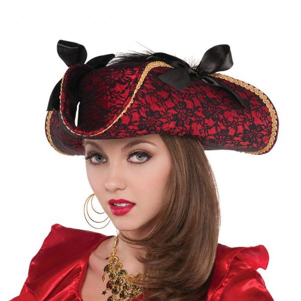 Adults Lace Hat Fancy Dress Outfit Accessory